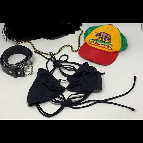 Belt, bikini 👙 top, California hat 🧢 ONLY!!!